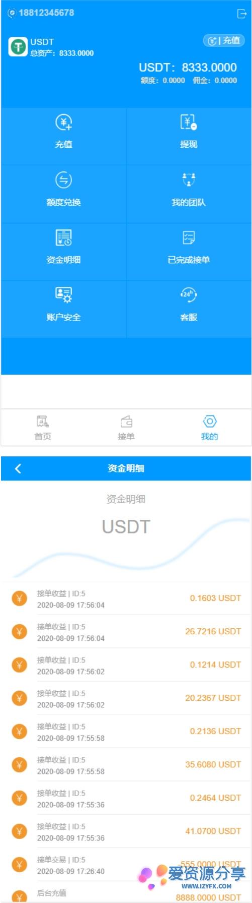 8月最新更新USDT货币跑分二开网站系统 支持OTC接单+一键买币-爱资源分享