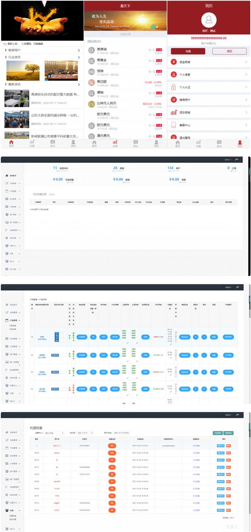 九月最新盈天下带完整数据点位盘系统源码 支持自定义行业资讯文章-爱资源分享