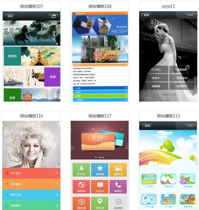 100套微赞(微官网)全新微站UI精华模板源码合集-爱资源分享