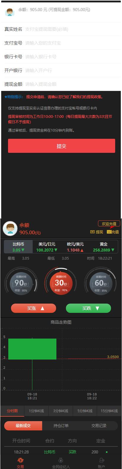2020微盘时间盘微交易系统带风控版K线正常网站源码 带安装说明-爱资源分享