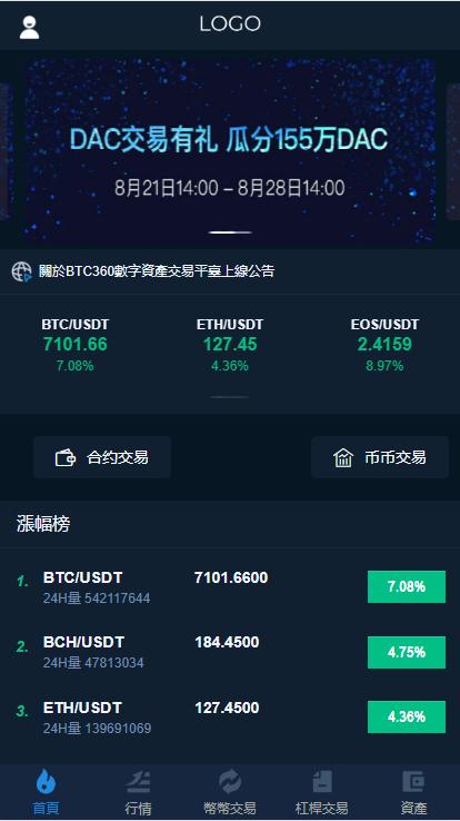 币圈交易所带币兑中心功能完整数据多语言版系统源码-爱资源分享