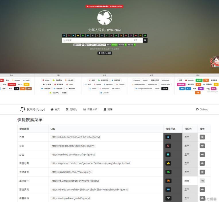 可配置轻量级美化UI个人网站导航系统源码-爱资源分享