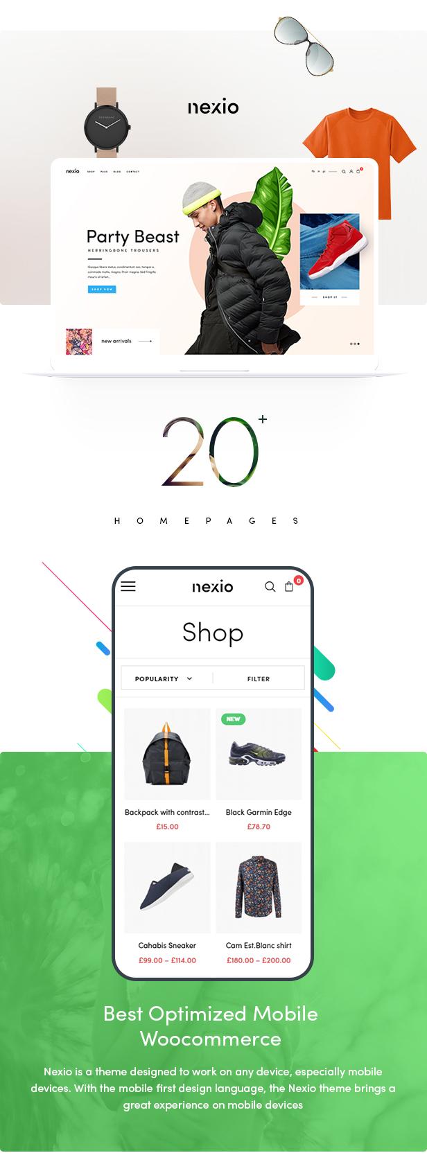 【WP主题】Nexio V1.0.7时尚服装WooCommerce商店WordPress主题-爱资源分享