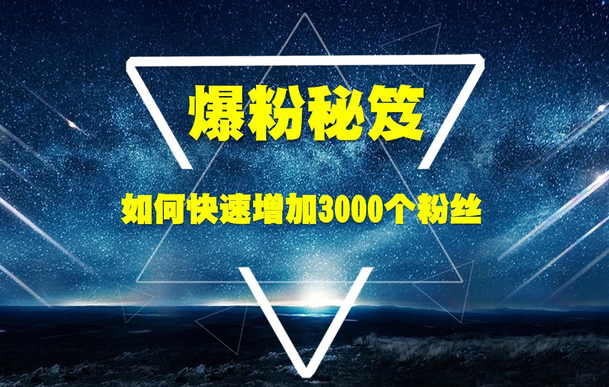 王通最新爆粉秘笈视频教程 教你快速增加3000个粉丝帮你多赚10万元-爱资源分享