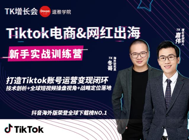 最新Tiktok海外短视频新手实战视频教程 0基础学习抖音国际版获取百万播放量完结版-爱资源分享