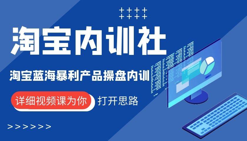 淘宝内训社之淘宝蓝海暴利产品操盘内训视频课6.5G-爱资源分享